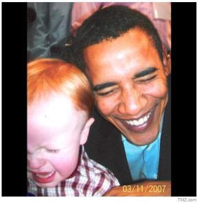 Zachery with Barack Obama